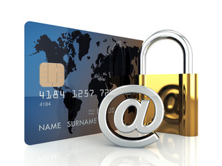 Safe online banking , 3d illustration