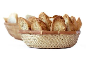 2 cestas de pan