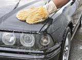 Lavando el automóvil. poster
