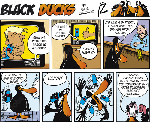 Keuken foto achterwand Comics Black Ducks Comics episode 69
