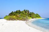 Beach on tropical island, Maldives, Asia poster