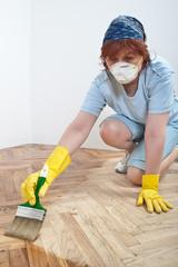Mid adult women work
