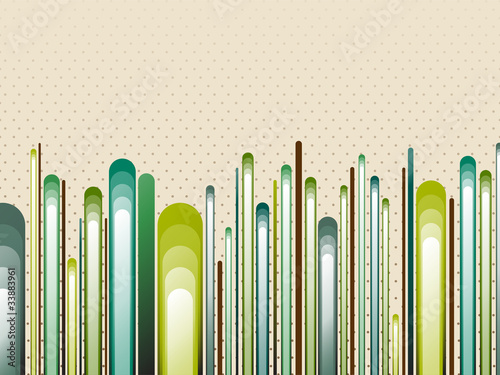 Nature Style Striped Green Background