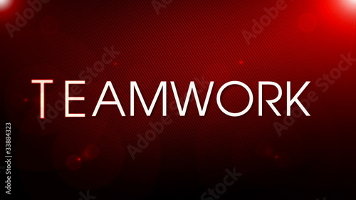 Success Teamwork RED color