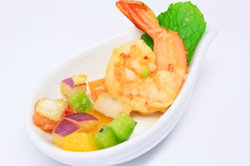 spicy shrimp and avocado cocktail