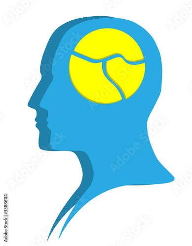 Silhouette of human head. Psychological concept: mental health