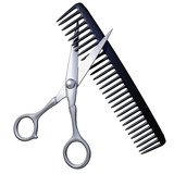 Coiffeur - Scissors and comb