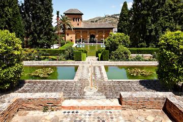 El Partal in der Alhambra, Granada, Spanien