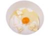 Rührschüßel mit  Butter, Mehl,Zucker und einem Ei