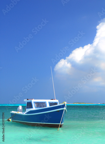 Fisherman's boat in Aruba