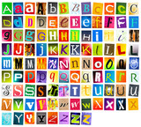 alphabet multicolore - 33895709