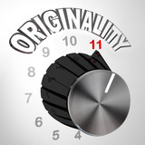 Originality Dial Knob Turned to Max - Innovative Invention poster