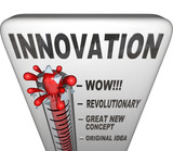 Innovation Level Measured on Thermometer - New Invention poster