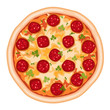 Pizza Salami - over white - vector - 33896707