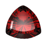 Jewelry gems shape of trillion. Ruby poster