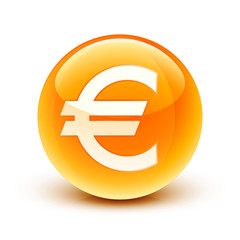 icône euro argent finance / euro icon