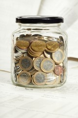 coins in the jar