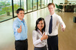 Diverse Business Team Three Thumbs Up