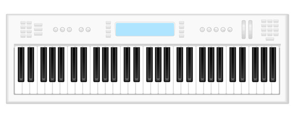 white synthesizer
