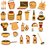 Restaurant supply icons