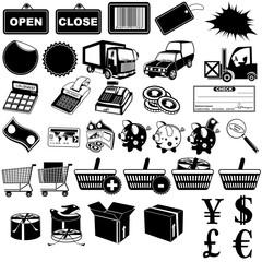 Shop pictogram icons 1