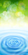 green bokeh & blue water waves - ecology background
