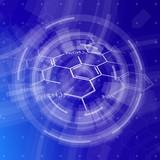 blue technology background & chemical formulas