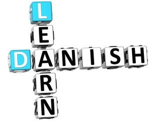 3D Learn Danish Crossword