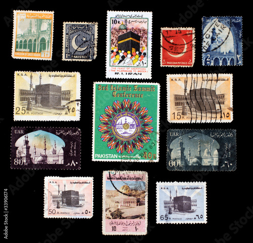 Islam on postal stamps, worldwide
