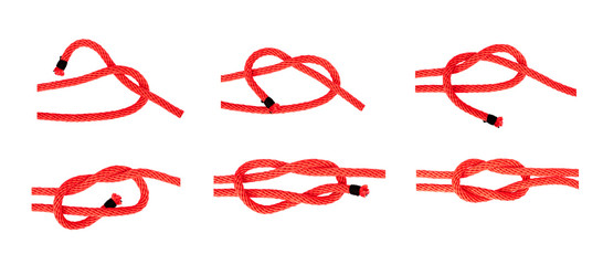 knot series : reef knot  or square knot