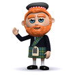 3d Scotsman waves a hearty greeting