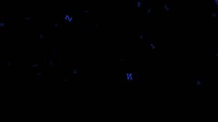 pioggia di lettere blu