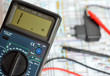 Technology bacground, digital multimeter