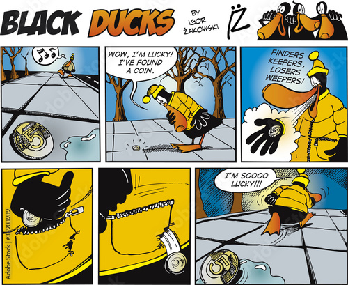 Keuken foto achterwand Comics Black Ducks Comics episode 71