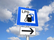 Schild LPG-Tankstelle