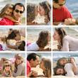 tendresse familiale sur le sable