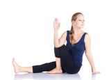 Yoga marichiasana twist pose