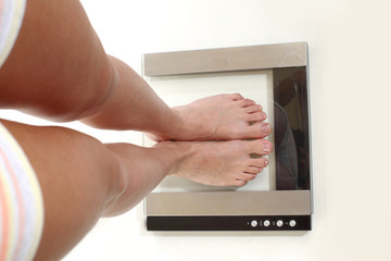 legs on scales