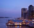New York Citys South Street Seaport at Night