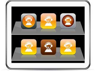 Operator orange app icons.