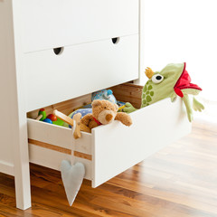 Toys in a drawer