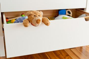 Teddy in a drawer