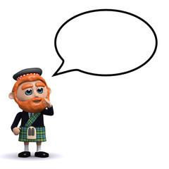 3d Scotsman speaking