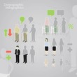 Demographic infographics. People icons in a different styles.