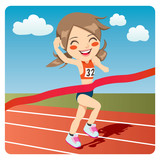 Athlete woman sprinter