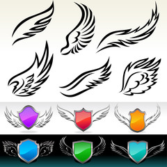 AMAZING FEATHERS AND WINGS VECTOR