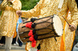 musician playing a tradition asian dhol drum - 33914900