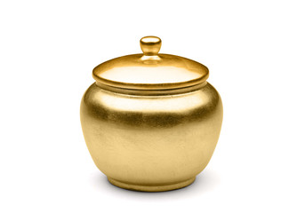 shugar pot isolated on the white background