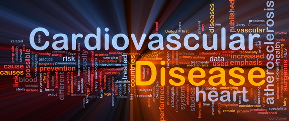 Cardiovascular disease background concept glowing