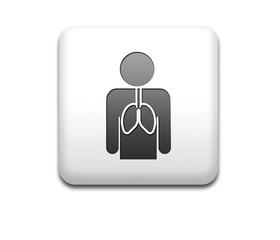 Boton cuadrado blanco sistema respiratorio